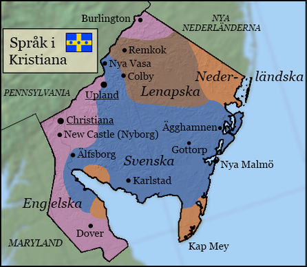 Christiana - Sweden map states